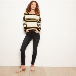 Anthropologie The Odells Striped Pull Over Size S
